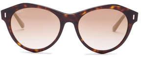 Tod's Unisex Round Plastic Frame Sunglasses