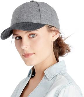 Sole Society Two Tone Wool Baseball Cap