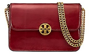 Tory Burch Chelsea Patent Convertible Shoulder Bag - TUSCAN WINE - STYLE