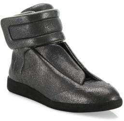Maison Margiela Stingray Future Leather High-Top Sneakers