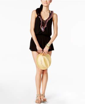 Becca Mardi Gras Ruffled Tunic Cover-Up Women's Swimsuit