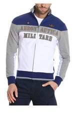 Aeronautica Militare Men's White/blue Cotton Sweatshirt.