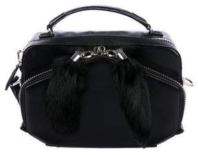 Alexander Wang Fur-Trimmed Leather Satchel
