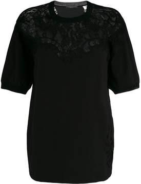 Ermanno Scervino lace panel neckline blouse