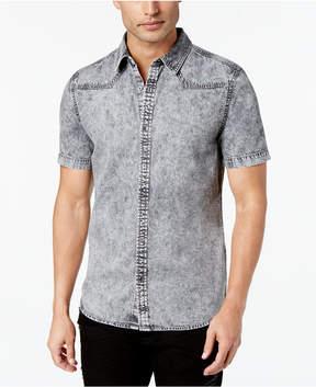 GUESS Men's Slim-Fit Western Denim Shirt