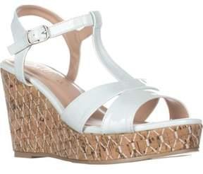 Callisto Aspenn T-strap Wedge Sandals, White.