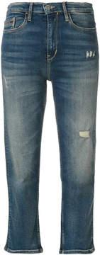 CK Calvin Klein cropped denim jeans