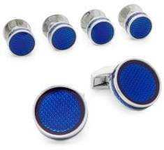 Tateossian Ice Tablet Round Studs and Cufflinks Set