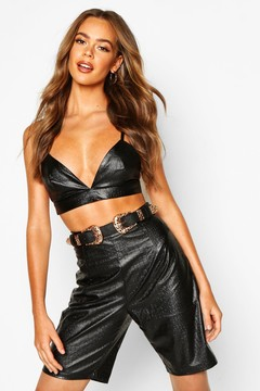 boohoo Anya Filigree Double Buckle Waist Belt