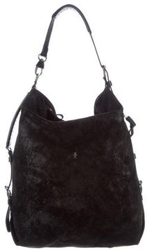Henry Beguelin Leather-Trimmed Suede Tote