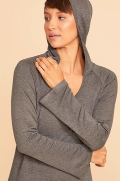Emily Pullover Hoodie -Gray
