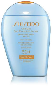 Shiseido Ultimate Sun Protection Lotion for Sensitive Skin & Children Broad Spectrum SPF 50+ WetForce