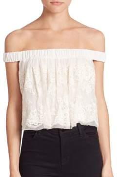Bec & Bridge Lady Lace Off-The-Shoulder Top