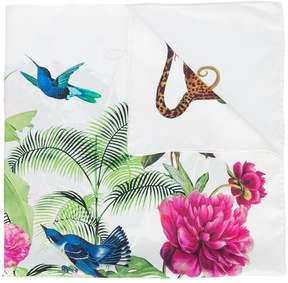 Oscar de la Renta jaguar print twill scarf
