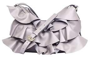 Borbonese Women's 954835400q80 Grey Leather Shoulder Bag.