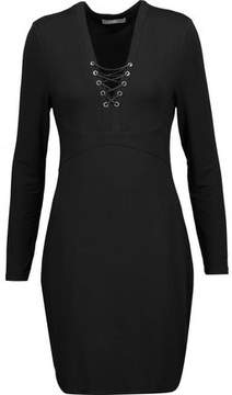 Tart Collections Honora Lace-Up Stretch-Modal Mini Dress