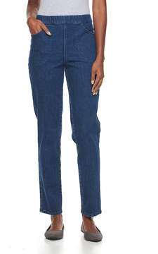 Croft & Barrow Women's Straight-Leg Pull-On Jeans