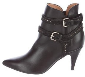IRO Leika Buckle-Accented Ankle Boots