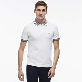 Lacoste Men's Fine Striped Cotton Rib Polo Shirt