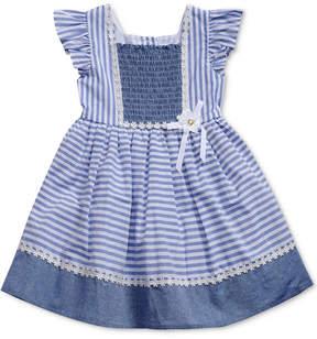 Sweet Heart Rose Striped Smocked Dress, Little Girls