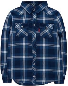 Levi's Levis Girls 4-6x Western Plaid Shirt
