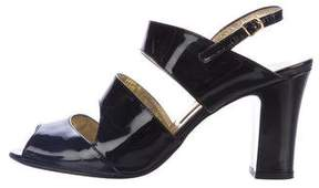 Walter Steiger Patent Leather Slingback Sandals