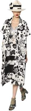 Antonio Marras Printed Lace & Cotton Jacquard Coat