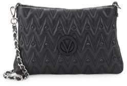 Mario Valentino Studded Leather Shoulder Bag