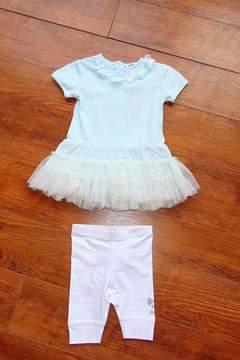 3 Pommes Tulle Dress & Leggings Set