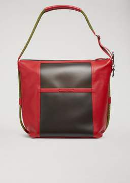 Emporio Armani Washed Leather Shoulder Bag