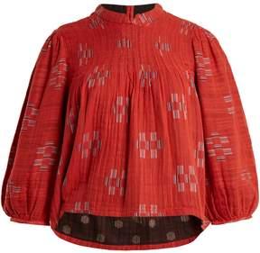 Ace&Jig Mallorca Jolie geometric-jacquard cotton top