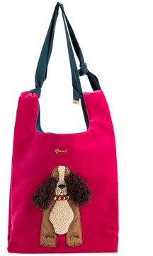 Muveil dog embellished shoulder bag