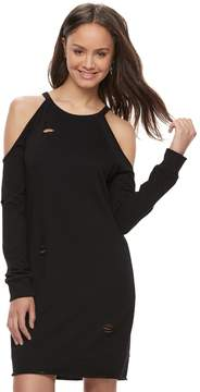 Almost Famous Juniors' Ripped Cold Shoulder Dress