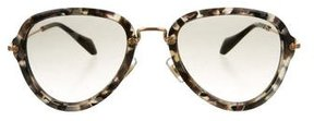 Miu Miu Marbled Oversize Sunglasses