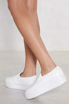 Nasty Gal Slip That In Platform Sneaker