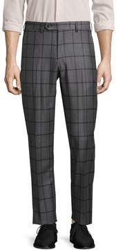 Lubiam Men's Plaid Wool Trousers