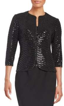 Alex Evenings Plus Sequined Jacket and Tank Set