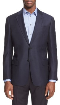 Armani Collezioni Men's G-Line Trim Fit Wool Blazer