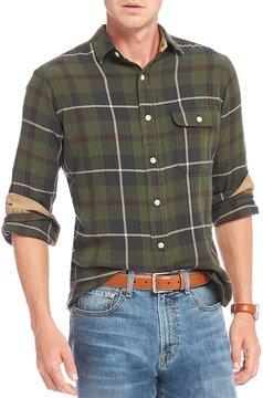 Daniel Cremieux Plaid Washed Flannel Long-Sleeve Woven Shirt