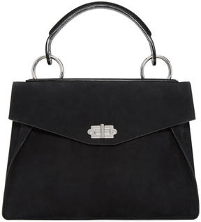 Proenza Schouler Black Nubuck Medium Hava Bag