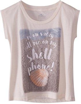 O'Neill Girls' Shell Phone Tee (Big Kid) 8168232