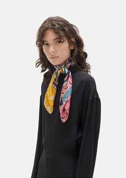Marni Foulard Scarf Pink Clematis Size: One Size