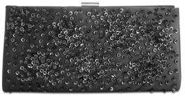 Adrianna Papell Beaded Convertible Satin Clutch