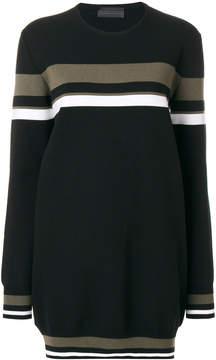 Diesel Black Gold stripe detail oversized sweater