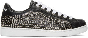 DSQUARED2 Black Eyelet Sneakers