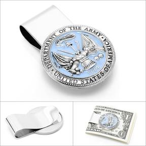Ice Pewter U.S. Army Money Clip