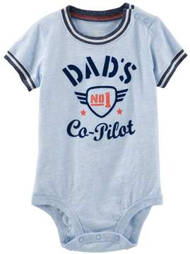 Osh Kosh Oshkosh Bgosh Baby Boy Dad's No. 1 Co-Pilot Bodysuit