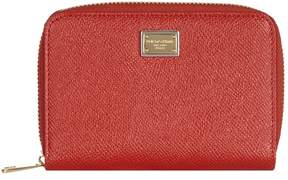 Dolce & Gabbana Leather Zip-Around Wallet (Small) - MULTI - STYLE