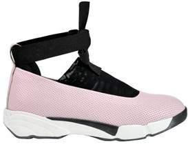 Pinko Women's Pink Fabric Slip On Sneakers.