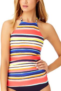 Anne Cole Red & Blue Stripe High-Neck Tankini Top - Women
